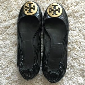 💗Tory Burch💗patent black flats